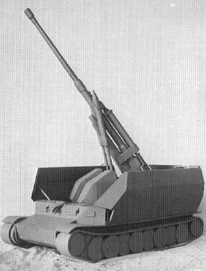 8.8cm FlaK auf Sonderfahrgestell (Pz.Sfl.IVc) - wooden mockup