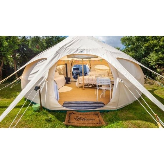 Beyond The Valley Festival Is Redefining Glamping ❤ liked on Polyvore featuring home, home decor, holiday decorations, beyond the valley, music home decor and festive home decor