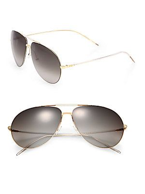Dior Homme Metal Aviator Sunglasses