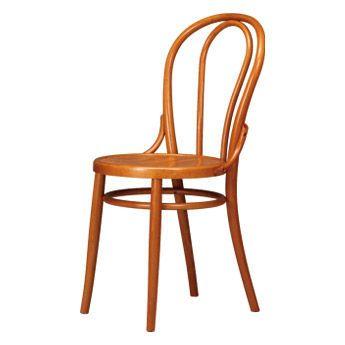 Chaise classique en bois de hêtre courbé (V02 Alema)