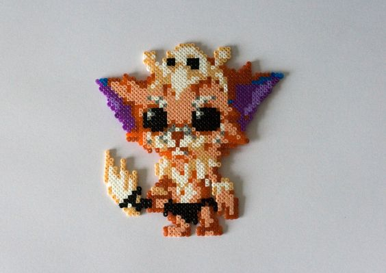 Gnar League of Legends hama beads by GoAmigurumis
