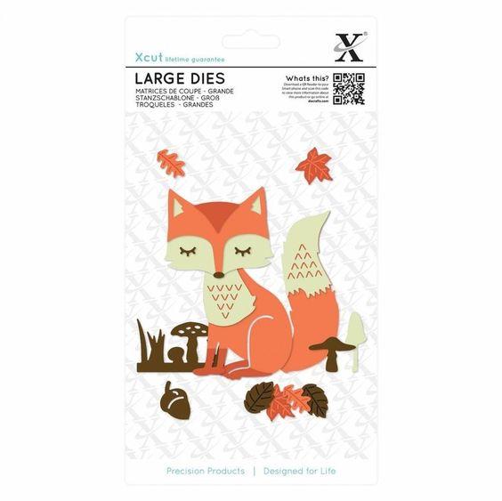 Layered Fox Xcut 503289, Large Die, XCUT, Fox