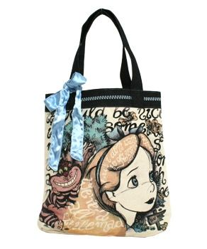 Alice in Wonderland Tote with bow. $45.00 at LoungeFly.