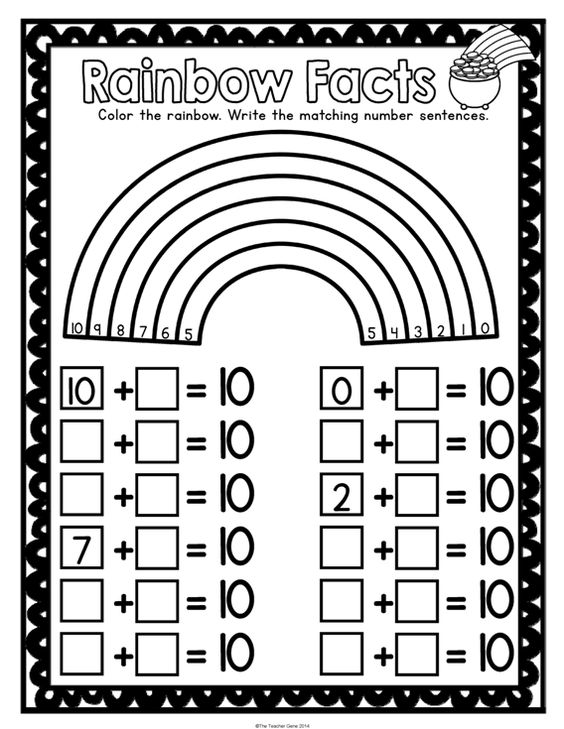 St Patrick's Day Kindergarten Math Activities Pack (Print and Go ...