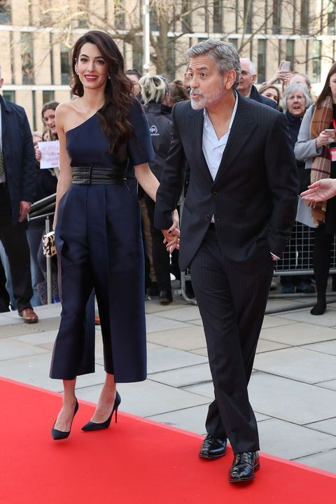 Amal Clooney Wore A Gorgeous Navy Jumpsuit To A Edinburgh Gala