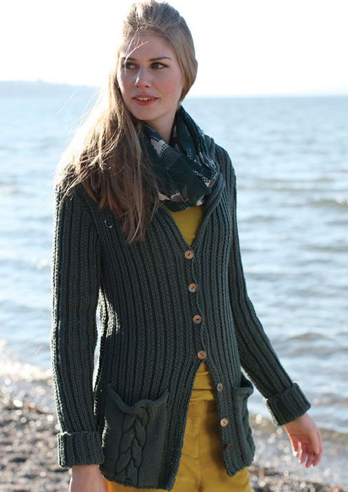 Free Knitting Pattern For Ribbed Cardigan With Pockets Knit Vest Pattern Knit Fashion Ribbed Cardigan
