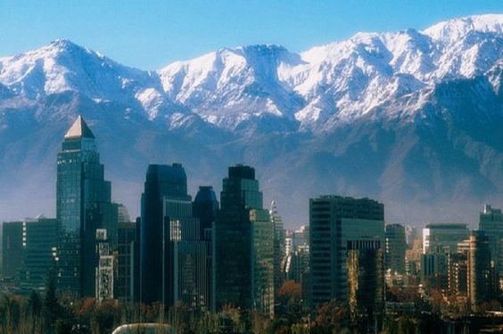 The Andes mountains around Santiago, Chile.