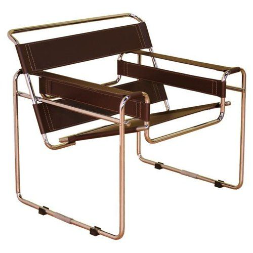 chrome & leather wassily chair from baxton studios