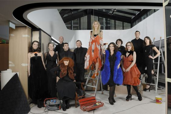 La dream-team de la société familiale Sonia Rykiel, dans la boutique de…
