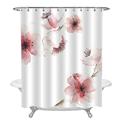 Mitovilla Spring Floral Shower Curtain For Women Chinese Https