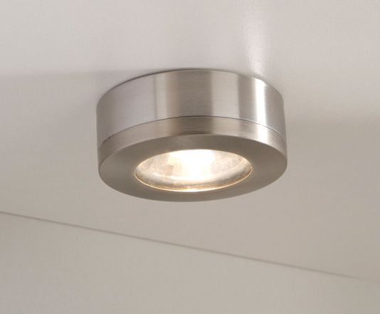 Round White Led Plinth Light Kitchen Worktop And Plinth Lighting - Kitchen halogen ceiling lights