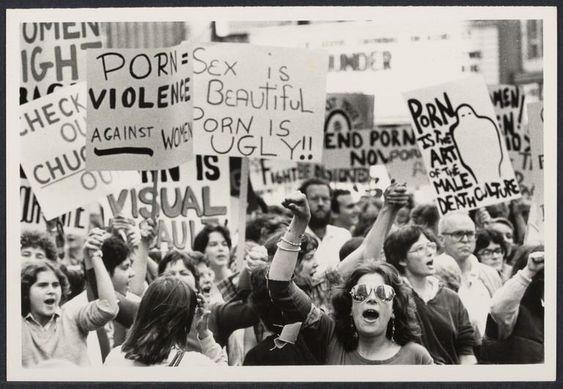 Protesta feminista contra la pornografía. Nueva York, 1979. Foto: Bettye Lane