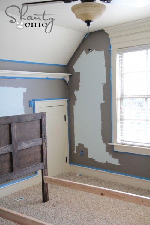 How to paint walls | I had his whole room painted and put back together in under 8 hours, and that included carpool and making supper!