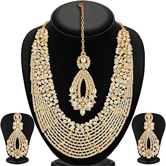Buy Sukkhi Choker Necklace For Women Golden 2100nadl3000 Amz Online At Low Prices In India Amazon Jewellery Store Amazon In Ozherele Ukrasheniya