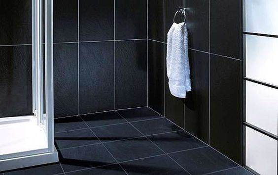 black-tile-bathroom-floor-black-tile-bathroom-600x380.jpg (600×380)