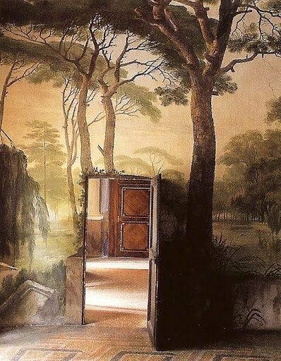 trompe l oeil ricardo labougle fashion lifestyle 1one pinterest mural wall nature. Black Bedroom Furniture Sets. Home Design Ideas