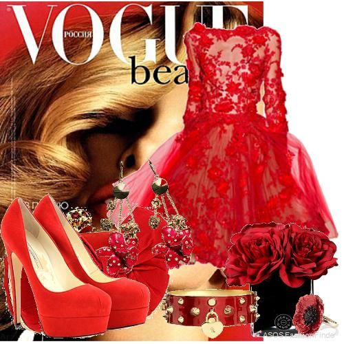 Red roses !!!!! | Women's Outfit | ASOS Fashion Finder