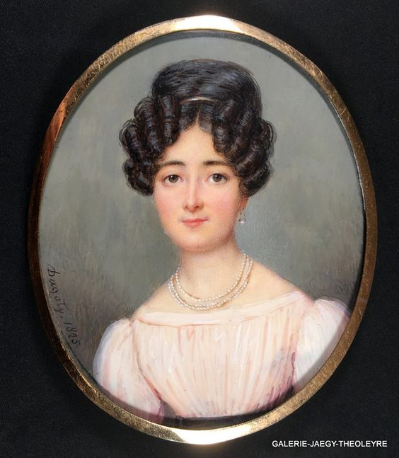 Галерея - GAUTIER Dagoty-Пьер-Эдуар (1775-1871), ПОРТРЕТ LADY, 1825:
