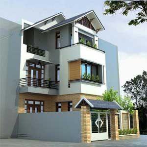 Thiết kế nhà phố hiện đại diện tích 4,5x17m   Mẫu nhà phố đẹp năm 2015