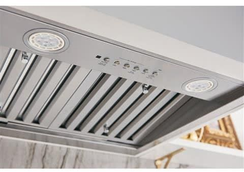 Ge Uvc9360slss 36 Inch Custom Hood Insert With Wi Fi Capability Dimmable Led Lighting 610 Cfm 4 Speed Fan And Removable Dimmable Led Wifi Connect Range Hood