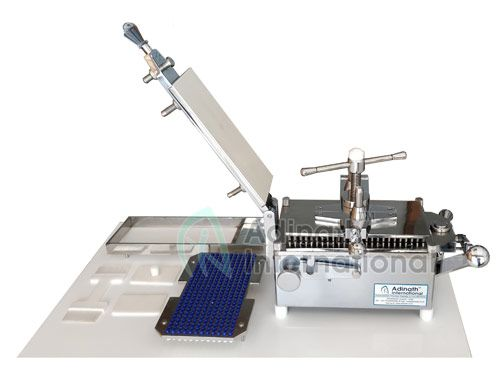 300 Holes Capsule Filling Machine Is Table Top Machine Suitable For Pilot Production Batch Requirements Machine Is Having 300 Holes Wi Holes Filling Capsule