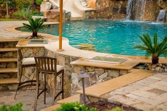 modern above ground pool decks ideas wooden deck round pool lawn stone slabs #deck #pool