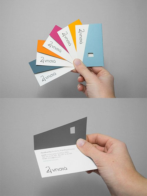 corporate folded business card