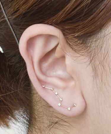 Constellation earring.