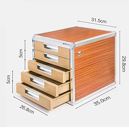 File Cabinets Five Layer Drawer Type With Lock Office Storage A4 Data Wood Grain Desktop File Box Size 31 Filing Cabinet Office Storage Storage