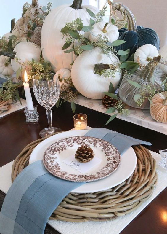 30 Adorable Fall Dining Room Decor Ideas In 2020 Fall Tabletop Decor Fall Tabletop Fall Dining Room