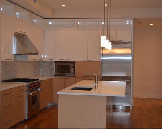 Bespoke # Kitchen # Tile # White # Grey Fascinating Simple Interior Design Of Kitchen Decorating Design