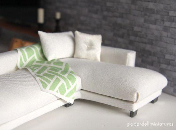 How to: Miniature sectional sofa.