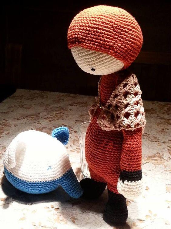 FIBI the fox made by Briggitte B. / crochet pattern by lalylala