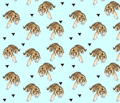 tigers fabric by kapowkids on Spoonflower - custom fabric