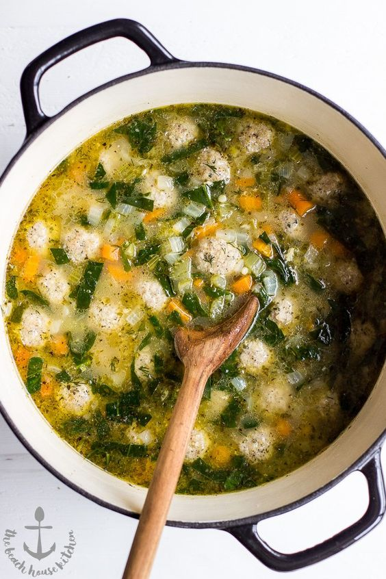This Italian Wedding Soup is hearty and delicious! Perfect for those cold wintry days ahead!