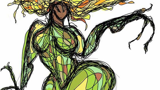 Earthy female form I drew on my phone.