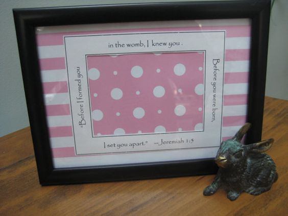 Ultrasound Photo Frame  5x7 Black  Baby Girl  Pink by glorygivers, $14.00