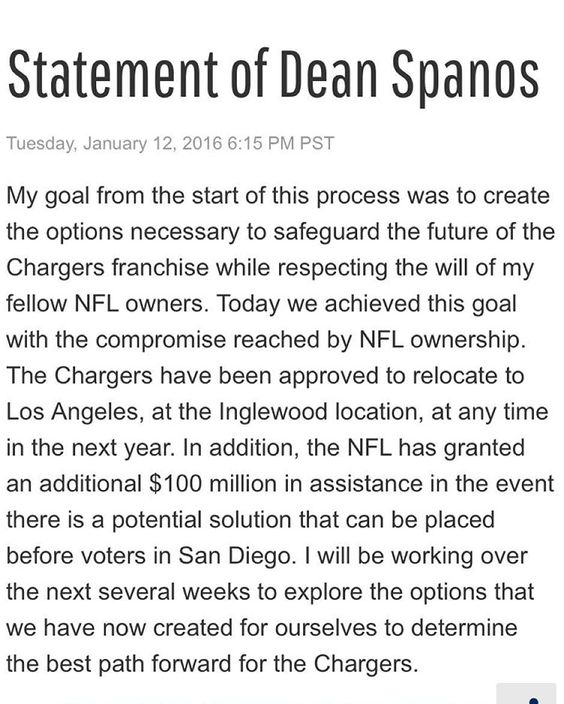 """""""From Dean Spanos."""""""