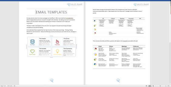 Sales Email Templates Sales Presentations Pinterest - sales plan template