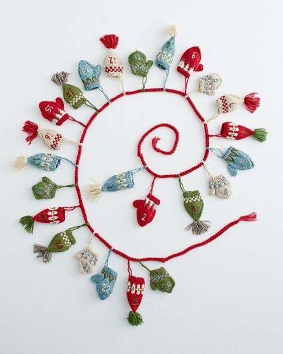 Garnet Hill's Hats and Mittens Advent Calendar