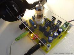 Fotografía del amplificador valvular para auriculares