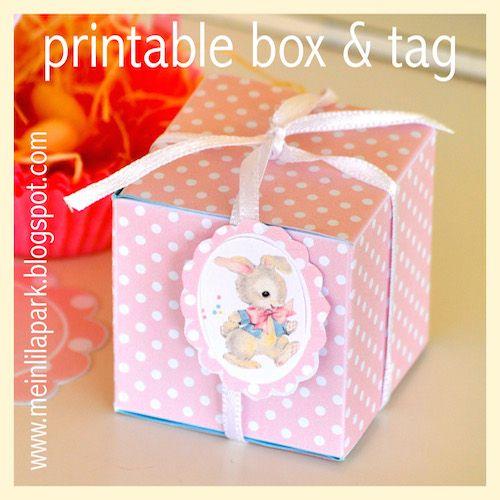 Free printable favor box and bunny tag - ausdruckbare Geschenkbox - freebie | MeinLilaPark – DIY printables and downloads