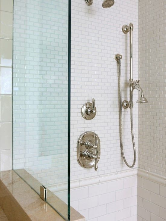 small and large subway tile alternative to master bath 11557