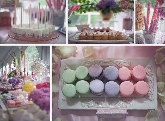 pastel macaroon loveliness! wedding dessert bar