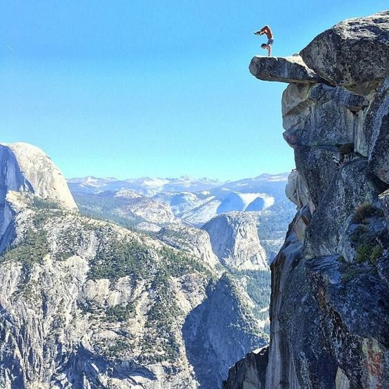 A handstand with a view! Location: Glacier Point Yosemite Courtesy of @moderntarzan