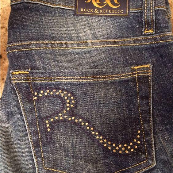Rock & Republic Jeans Size 4 Awesome Rock & Republic Jeans, great condition size 4 Rock & Republic Jeans