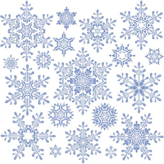 Decorative snowflakes templates #vector | Free Vector Graphic ...