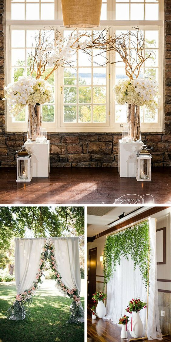 33 Wedding Backdrop Ideas For Ceremony Reception & More Receptions Ceremony backdrop and Wedding
