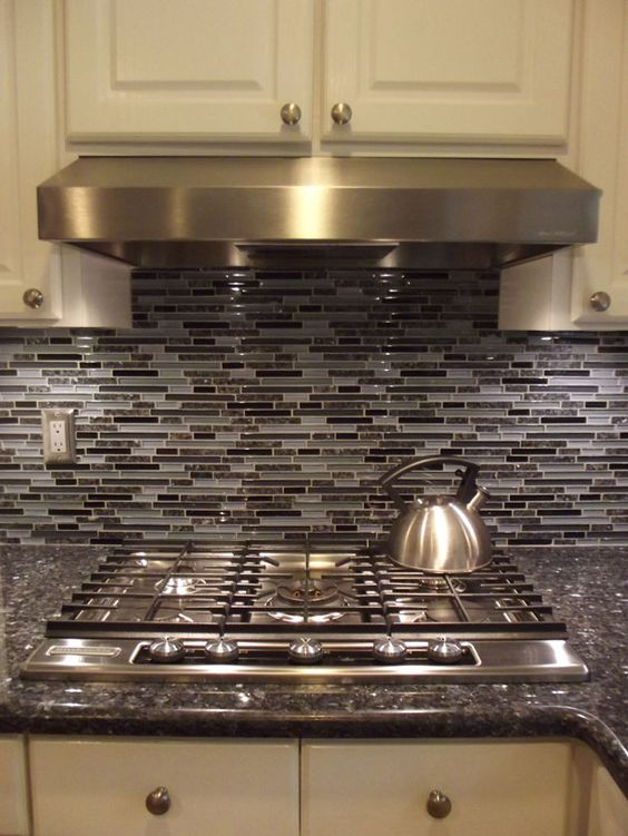 Blue Kitchen Cabinets Stainless Steal Appliances