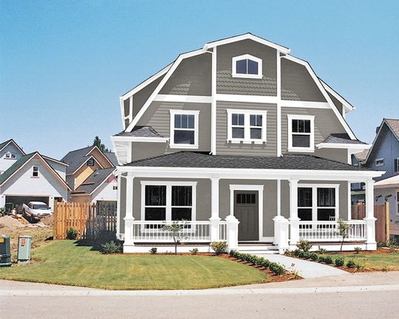 Gauntlet gray exterior paint and gray on pinterest for Sherwin williams dovetail gray exterior